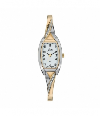 Montre rectangulaire bicolore dame