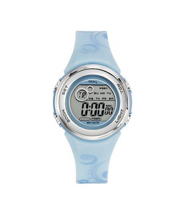 Montre ronde bleue junior