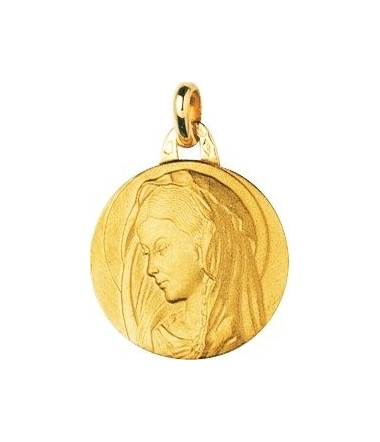 Médaille vierge ronde or jaune