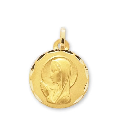Medaille vierge or jaune