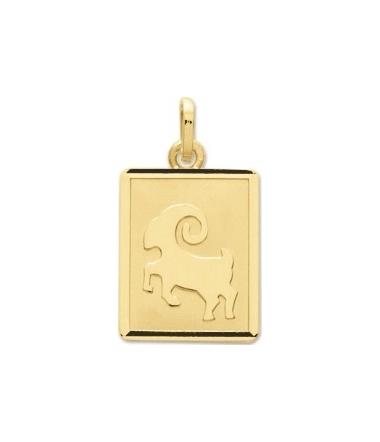 Pendentif zodiaque bélier or jaune