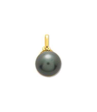 Pendentif perle tahiti 8mm or jaune