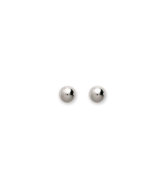 Boucles d'oreilles argent boules 5 mm