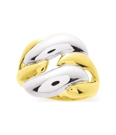 Bague bicolore or jaune/blanc