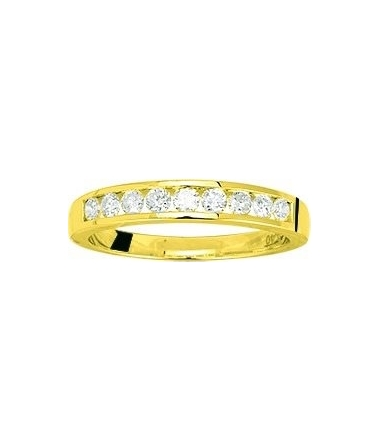 Demi-Alliance or jaune diamants 0.40 carat