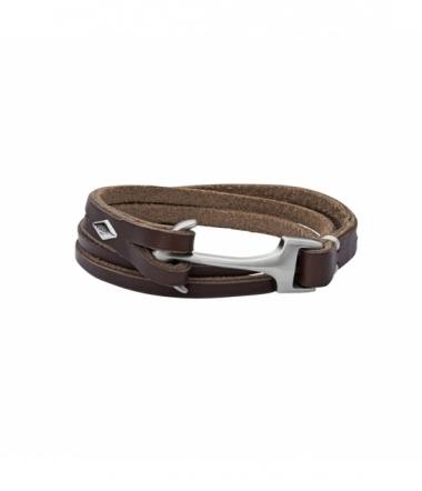 Bracelet Homme double-tour cuir JF02205040