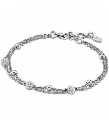 Bracelet Cristaux Chaine Acier Femme