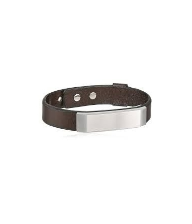 Bracelet Acier et Cuir Homme JF02363040