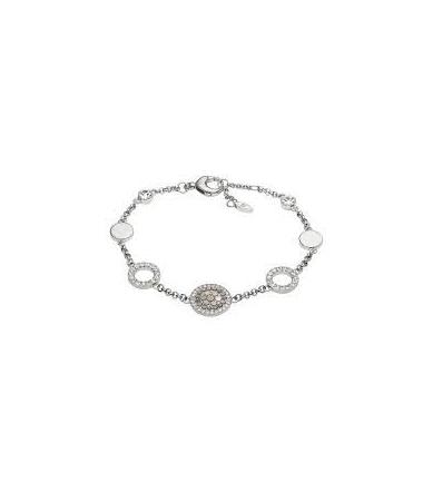 Bracelet Acier et Cristaux Femme JF02311040