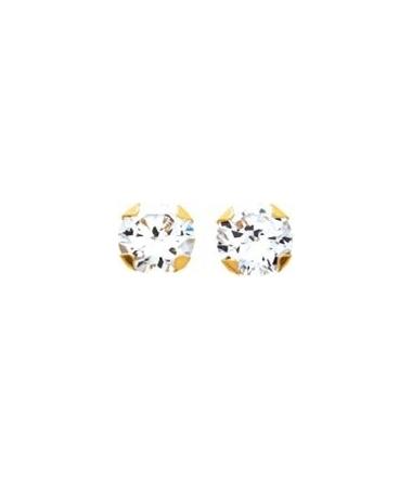 Boucles d'oreilles plaqué or + OZ