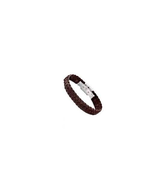 Bracelet Acier et Cuir Femme JF02252791 FOSSIL