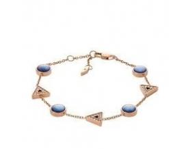 Bracelet Acier Doré rose et Nacre Femme JF03012791