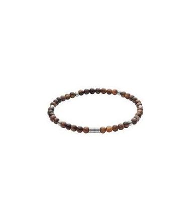 Bracelet Acier et Perles Homme JF02939040