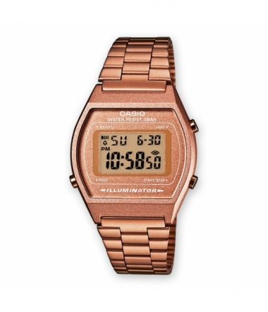 Montre Rectangle Acier Rose Mixte