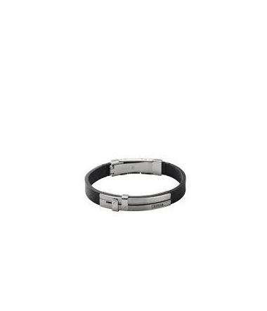 Bracelet Acier et Silicone Homme JF85096040