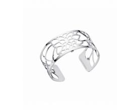 Bracelet Nénuphar Laiton Finition Argent Femme 25