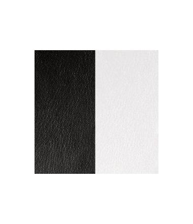 Cuir Pendentif Noir/Blanc 16 mm