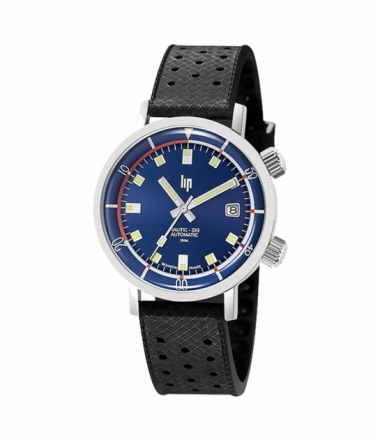 Montre Ronde Automatique Bleue Saphir Homme NAUTIC