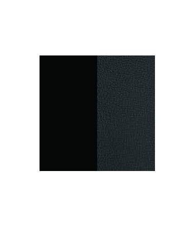 Cuir Bracelet Noir Grainé/Noir Soft 14 mm Mixte