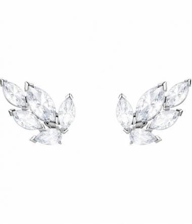 Boucles d'oreilles Clous en Métal Rhodié et Crista