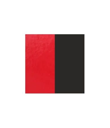Cuir Bracelet Rouge Vernis/Noir 25 mm