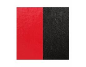 Cuir Bracelet Rouge Vernis/Noir 14 mm