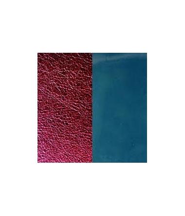 Cuir Pendentif Bleu Jeans Vernis/Bordeaux Métallis