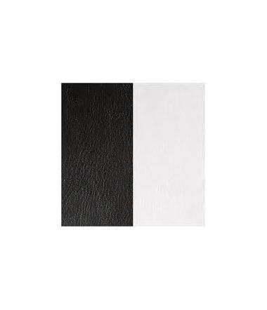 Cuir Pendentif Noir/Blanc Clair 45 mm