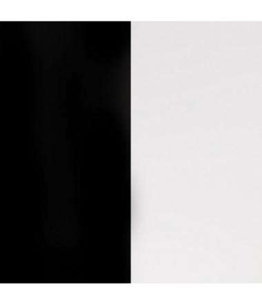 Cuir Bracelet Noir/Blanc 8 mm