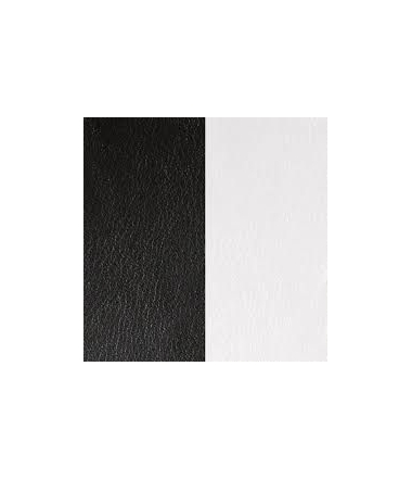 Cuir Bracelet Noir/Blanc 25 mm