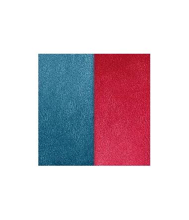 Cuir Pendentif Bleu Pétrole/Framboise 60 mm