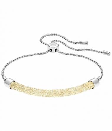 bracelet Acier et Cristal Doré Femme
