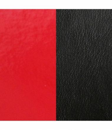 Cuir Bracelet Rouge Vernis/Noir 40 mm