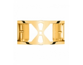 Bracelet Structure Laiton Finition Or Jaune Femme