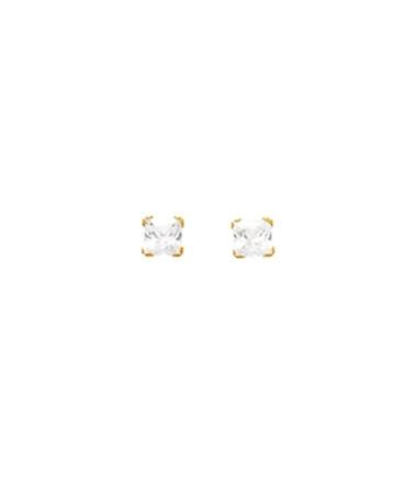 Boucles d'oreilles or griffe 3 mm