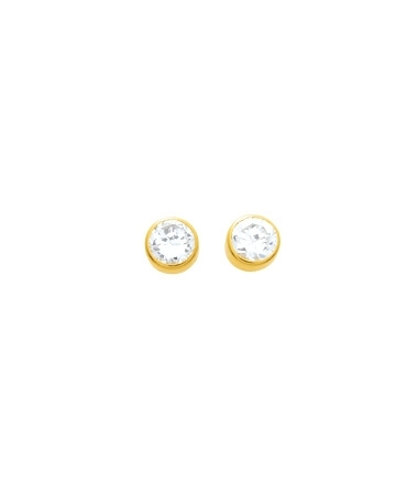 Boucles d'oreilles rondes or jaune