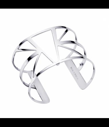 Bracelet Ibiza Laiton Finition Argent Femme 40 mm