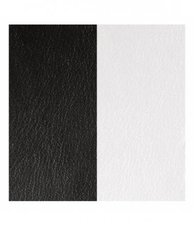 Cuir Bracelet Noir/Blanc 40 mm