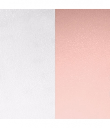 Cuir Bracelet Gris Clair/Rose Clair 40 mm