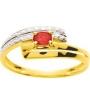 Bague or jaune diamant 0.01 carat