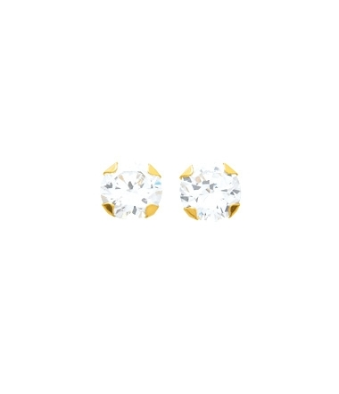 Boucles d'oreilles 4 griffes 6mm