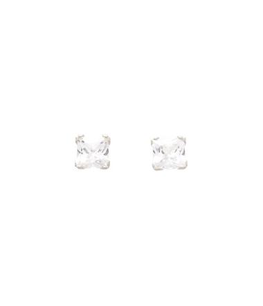 Boucles d'oreilles griffes carrées or ROBBEZ MASSO